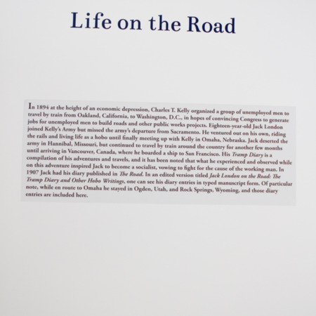 Jack London Exhibit, Life on the Road Panel, view 1