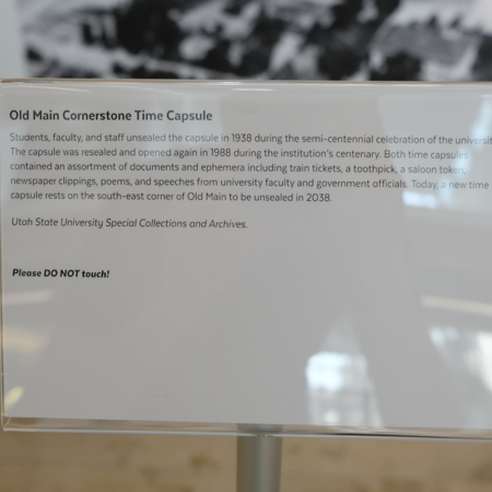 Physical Exhibit-Cornerstone Text Panel