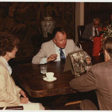 Charles Bullen at the Hatch Room Reception<br />
