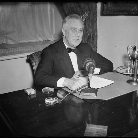 FDR Speaking during a Radio Broadcast.jpg