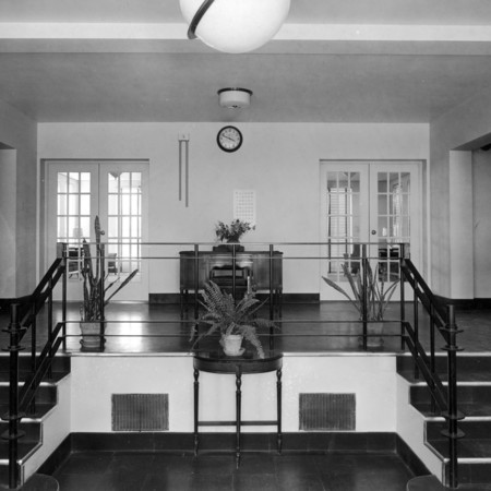 Entry of Lund Hall, 1937