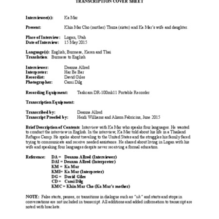 Ka Mar transcript