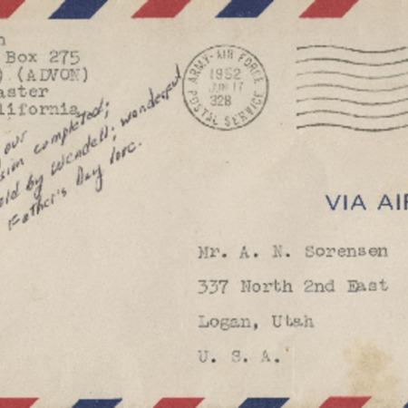 Personal letter from Robert Sorensen to Alma Sorensen and family, June 15, 1952
