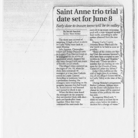 Saint Anne trio trial date set for June 8