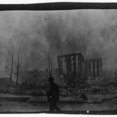 """O'Farrell and Larkin St. More ruins."""