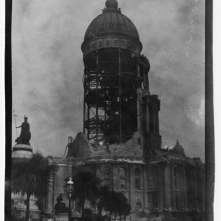 """""""Result of Earthquake. City Hall dome, which cost the city $32,000,000."""""""