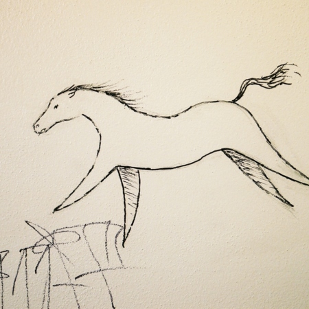 Merrill Library graffiti - Horse<br />