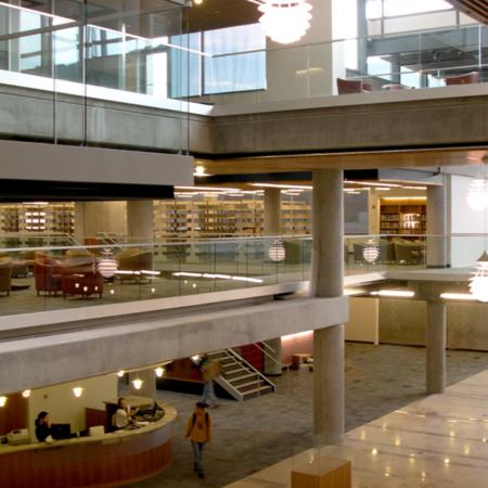 Merrill-Cazier Library atrium<br />