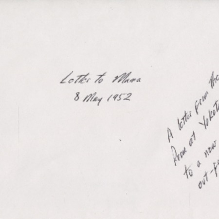 Personal letter from Robert Sorensen to Mary Sorensen, May 8, 1952