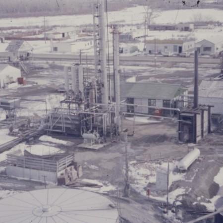 Uinta Oil Plant, aerial view;