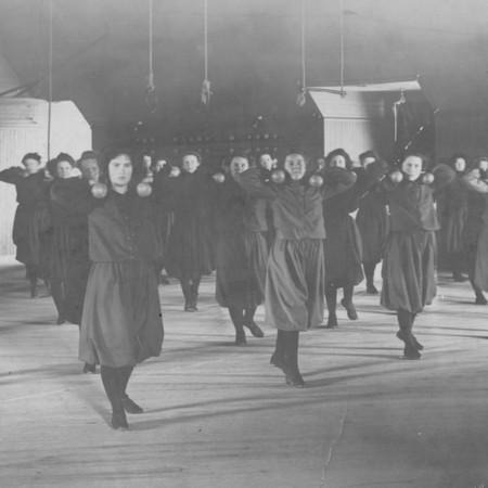 Women's physical education class, c. 1902