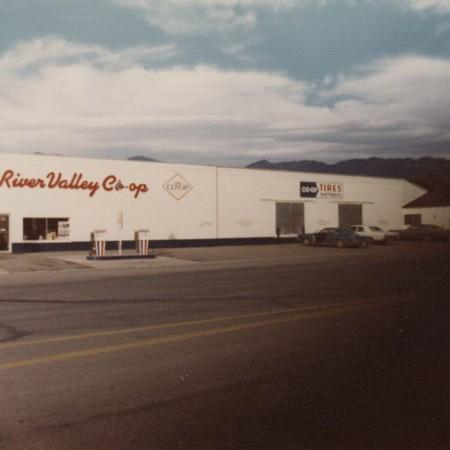 "Front view ""Bear River Valley Co-op"" Corinne, Utah;"