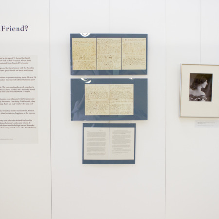Jack London Exhibit, More Than a Friend Panel, view 1