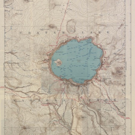 Topographical map of Crater Lake, Oregon, 1911/1931