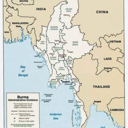 Burma Karen Map