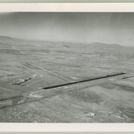 Aerial View of Logan-Cache Airport, northwest