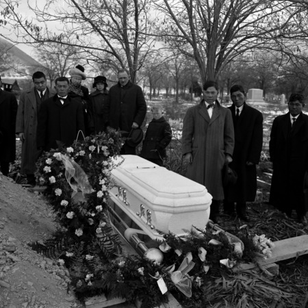 Funeral of unidentified Japanese man
