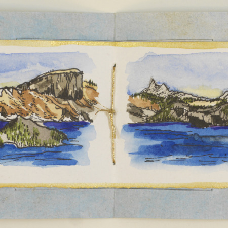 Crater Lake accordion book, page 4