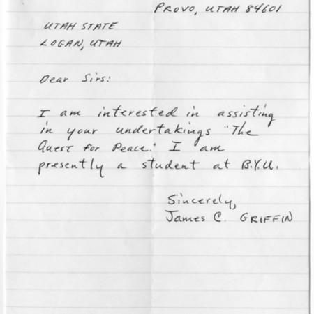 Letter - James C. Griffin