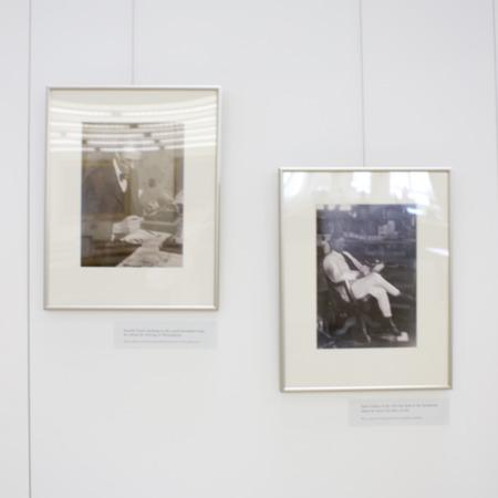 Jack London Exhibit, Sinclair Lewis Plots Panel, view 3