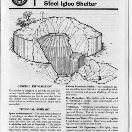 Buried Steel Igloo Fallout Shelter