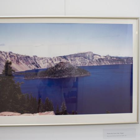 Jack London Exhibit, Crater Lake Panel, view 2