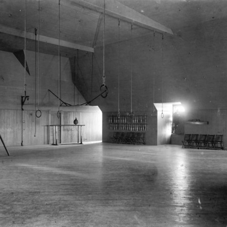 Gymnasium, third floor, Old Main, c. 1895
