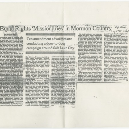 """Equal Rights Missionaries in Mormon Country"""