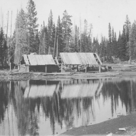 Lake Margarite Sawmille Franklin Basin ca. 1900