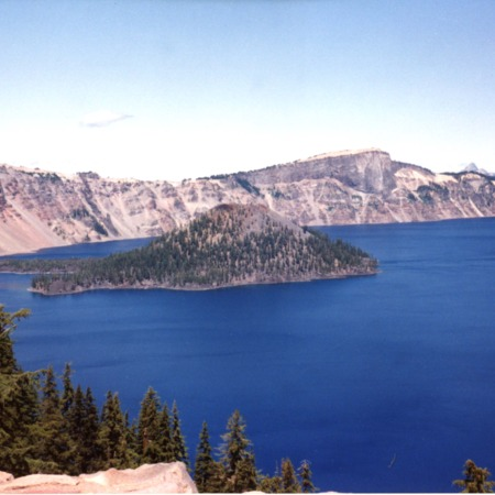Photograph of Crater Lake, Oregon