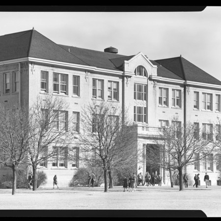 Students leaving the Plant Industry building, undated
