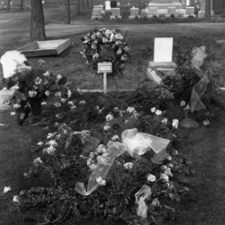 Flowers on the grave of Mrs. R. C. Papendick