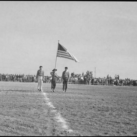 Densho_Football_game_flag_ceremony.jpg