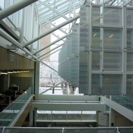 Second floor view facing South over the study atrium<br />