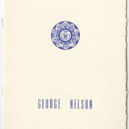 "George ""Doc"" Nelson Field House name dedication program, 1956"