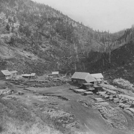 Temple Fork Sawmill, Logan Canyon, Utah, 1880s