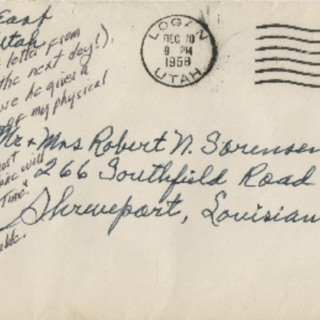 Correspondence from Alma N. Sorensen to Robert N. Sorensen, December 10, 1958