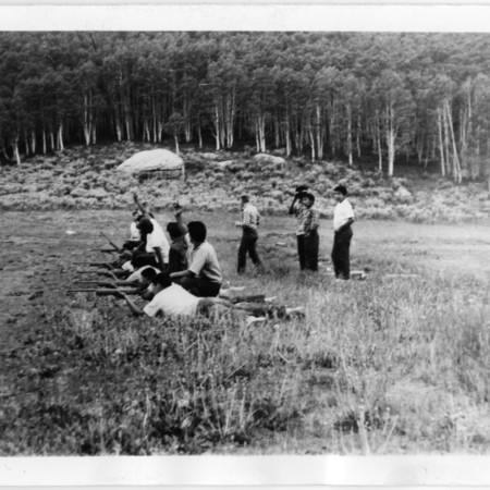 Ute youth on the range