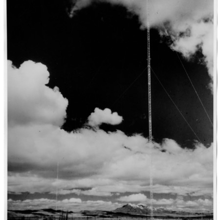 KVNU radio tower, located at 1393 North Main Street in Logan, c.1945.