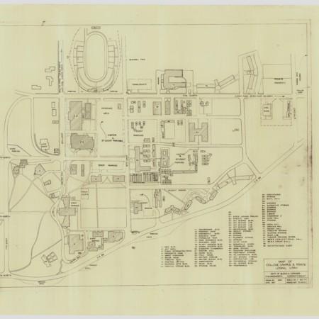 Utah State University Map, c. 1960