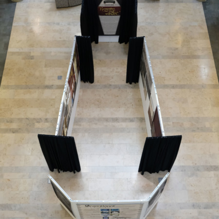 Physical Exhibit-Overhead Coffin View
