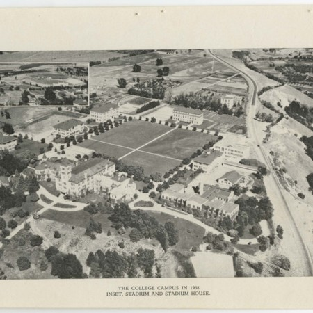 Aerial Photo of the Utah State Agricultural College, 1938