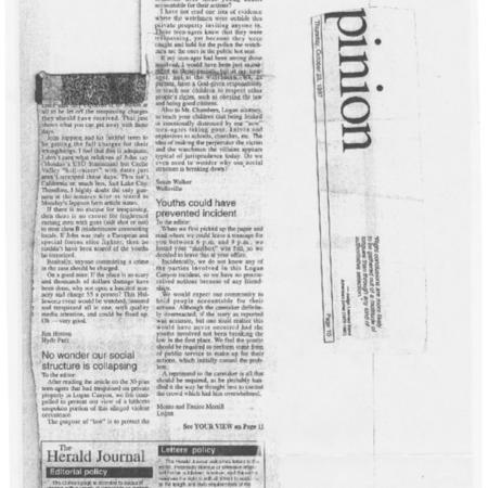 Herald Journal Opinion Piece