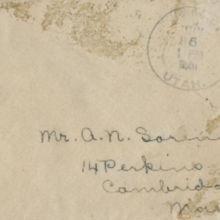 Correspondence from Bessie Spencer to Alma N. Sorensen, June 1, 1916