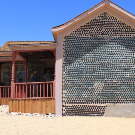 Outside View of Bottle House