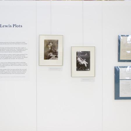 Jack London Exhibit, Sinclair Lewis Plots Panel, view 1