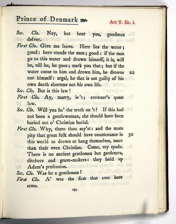 Hamlet, Act 5 Scene 1, b