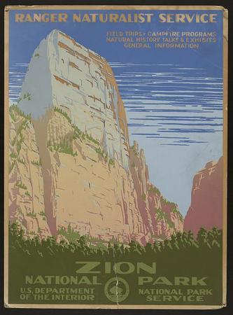 Zion National Park National Park Service Poster