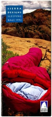 Sierra Designs, Sleeping Bags, 1992