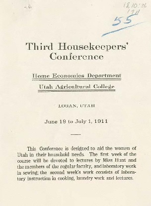 Third Housekeeper's Conference Announcement